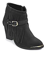 Catwalk Collection Fringe Boots E Fit