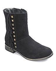 Catwalk Flat Fringe Boots E Fit