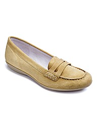 Heavenly Soles Suede Loafers EEE Fit