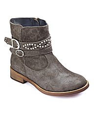Sole Diva Studded Ankle Boots E Fit
