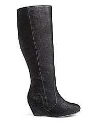 Legroom Wedge Boot Super Curvy Leg EEE