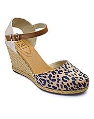 Sole Diva Espadrille Wedge Shoes EEE Fit