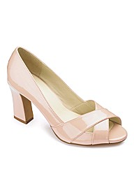 Sole Diva Peep Toe Flared Heel EEE Fit