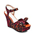 Anna Scholz Printed Wedge EEE Fit