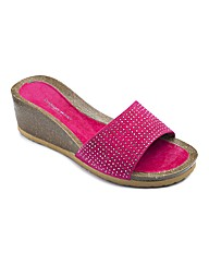 Cushion Walk Diamante Wedges E Fit