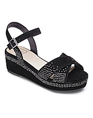 Sole Diva Studded Flatform EEE Fit