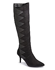 Sole Diva Stretch Detail Boot EEE Fit