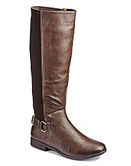 Sole Diva Stretch High Leg Boot EEE Fit