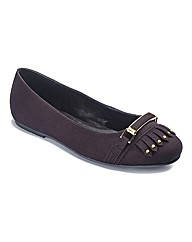 Sole Diva Trim Detail Ballerinas E Fit