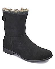 Sole Diva Faux Fur Trim Boot E Fit