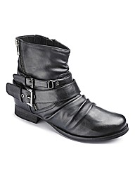 Joe Browns Zip Ankle Boot EEE Fit
