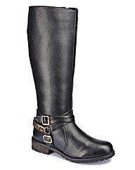 Legroom Chain Detail Boot Curvy Plus EEE