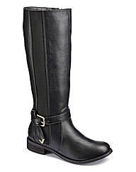 Legroom Elastic Detail Boot Standard EEE