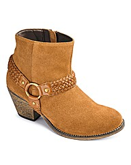 Joe Browns Suede Ankle Boot E Fit