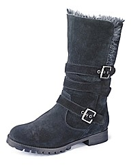 Sole Diva Fur Fold Over Boots E Fit