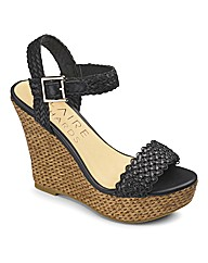 Claire Richards Woven Wedge EEE Fit