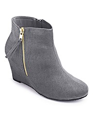 Sole Diva Wedge Ankle Boot E Fit