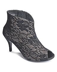 Sole Diva Peep Toe Shoe Boot EEE fit
