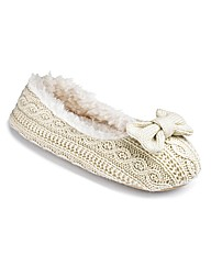 Sole Diva Knitted Ballerina Slippers