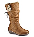 Relife Wedge Boots Standard Calf EEE Fit
