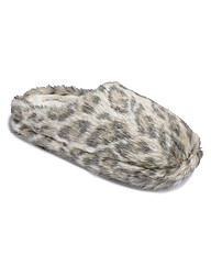 Sole Diva Leopard Print Mule Slippers E