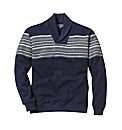 Jacamo Shawl Neck Sweatshirt Long
