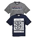 Nickelson Pack of Two Tees