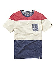 Brave Soul Colour Block Tee Long