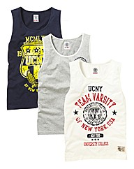 Ucny Pack Of 3 Vests