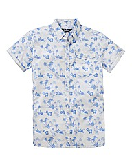 Label J Hawaiian Print Shirt Regular