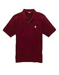 Jacamo Wine Embroidered Polo Long