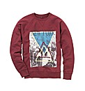 Label J Print Crew Neck Sweatshirt Long