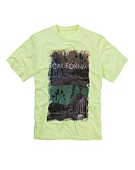 Label J Neon Print T-Shirt Reg