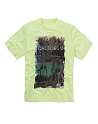 Label J Neon Print T-Shirt Reg