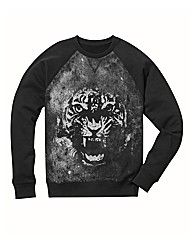 Label J Print Crew Neck Sweat Long