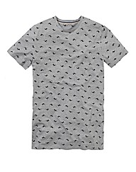 Label J all Over Print T-Shirt Reg