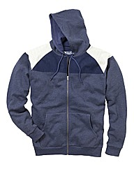 Label J Full Zip Contrast Hood Long