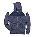 Label J Full Zip Contrast Hood Reg