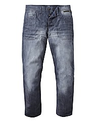 Jacamo Grey Wash Jean Extra Long