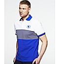 Flintoff By Jacamo Colour Block Polo Reg