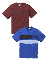 Fenchurch Pack of 2 Printed T-Shirts