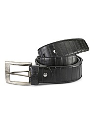Souled Out Brushed Nickel Leather Belt