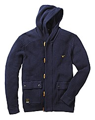 Voi Artillary Full Zip Hooded Knitwear