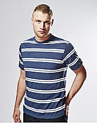Flintoff By Jacamo Stripe Tee Regular