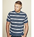 Flintoff By Jacamo Stripe Tee Long