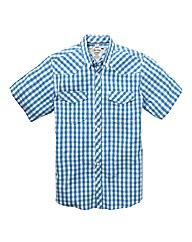 Jacamo Short Sleeve Western Shirt Long