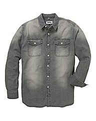 Jacamo Long Sleeve Denim Shirt