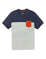 Jacamo Colour Block T-Shirt Long