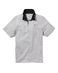 Jacamo Pinstripe Grif Polo Shirt Long