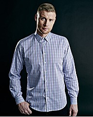 Flintoff By Jacamo Small Check Shirt Reg